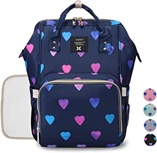 Diaper Backpack Baby Nappy Bag - Travel&Outdoor Organizer Water-Resistant Multi-Function Maternity Bag for Mon Daddy (Blue)