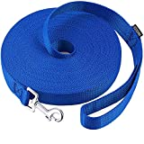 AMAGOOD Dog/Puppy Obedience Recall Training Agility Lead-15 ft 20 ft 30 ft 50 ft Long Leash-for Dog Training,Play,Safety,Camping (15 feet, Blue)