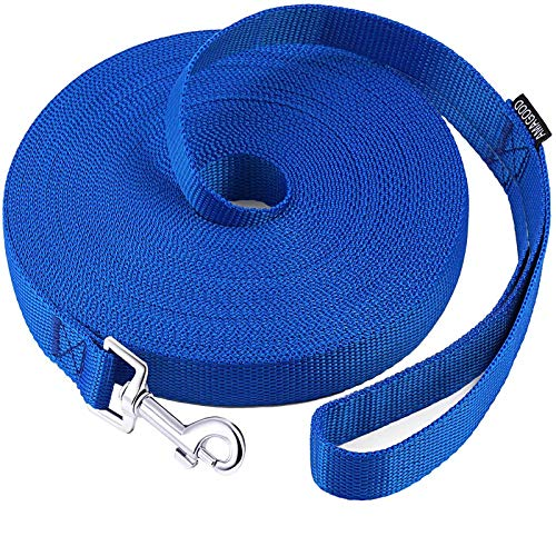 AmaGood Dog/Puppy Obedience Recall Training Agility Lead-15 ft 20 ft 30 ft 50 ft Long Leash-for Dog...