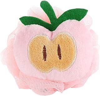 4Pcs Cute Peach Soft Mesh Bath Sponge Brush Exfoliation Massage Scrubber