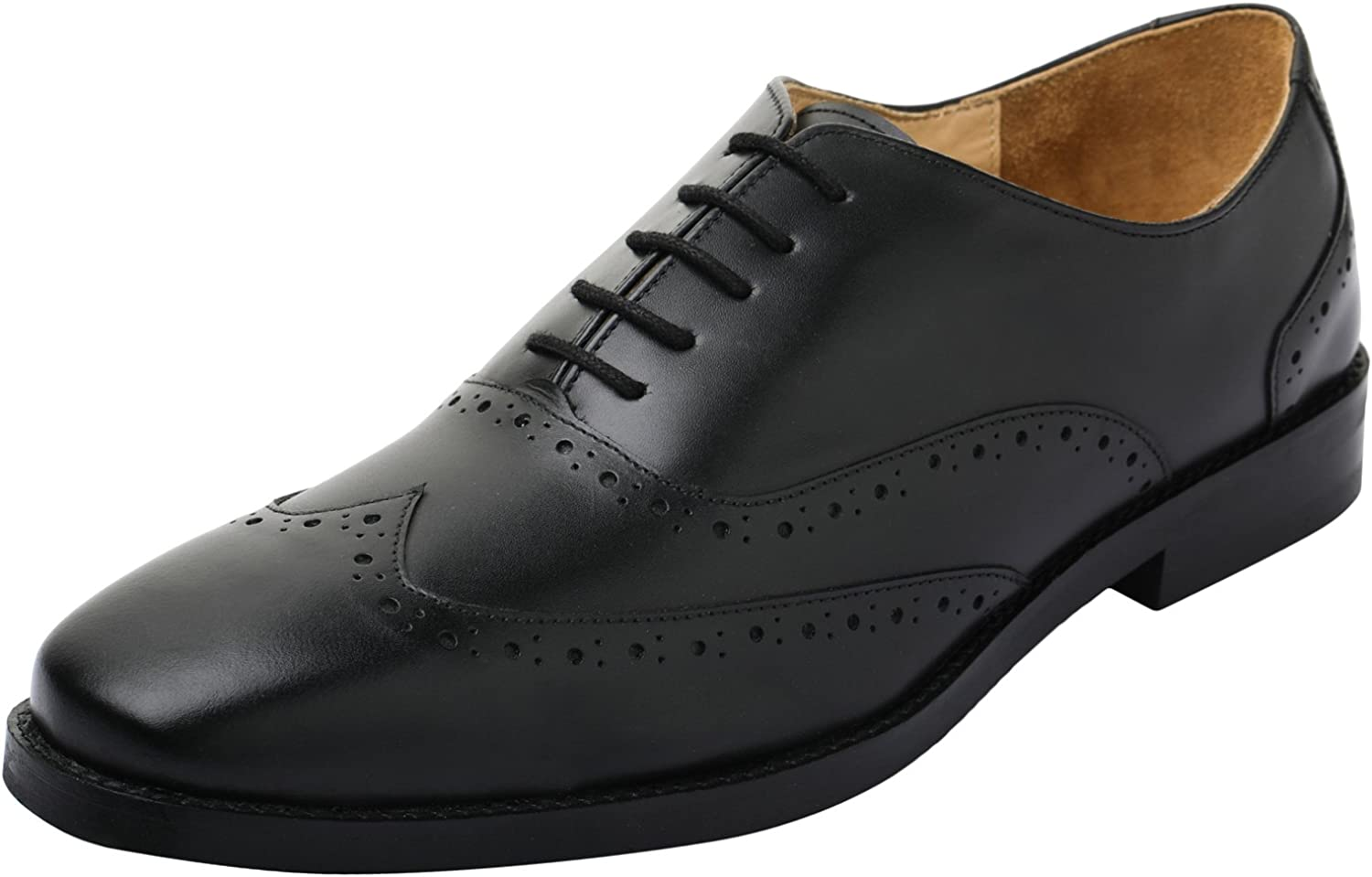 Lethato Handcrafted Men's Captoe Genuine Leather Lace Oxford Dress shoes