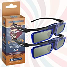 RetroDepth LT Lightweight Rechargeable DLP Link 3D Glasses for all DLP 3D Projectors..