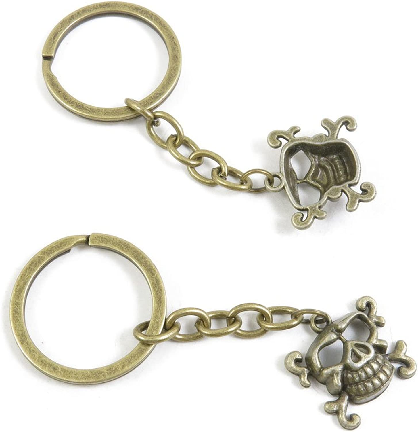 160 Pieces Fashion Jewelry Keyring Keychain Door Car Key Tag Ring Chain Supplier Supply Wholesale Bulk Lots B2SF3 Pig Skull Head