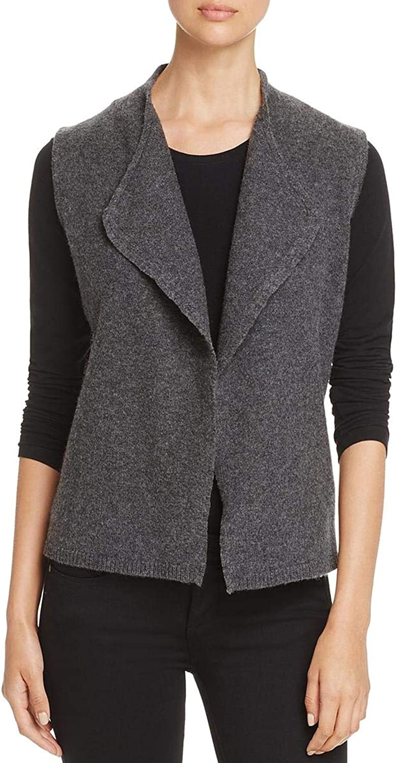 EileenFisher Womens Wool Heather Sweater Vest