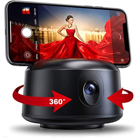 Smart Selfie Stick,【NO APP Required】 Auto Face Object Tracking Camera,Auto Tracking Phone Mount Smart Tracking Holder,Suitable for All iOS and Android Phones//Live Streaming and Vlog Shooting