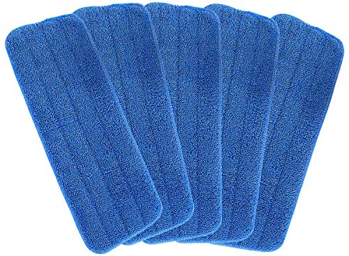 NUOMAN Microfiber Spray Mop Replacement Heads for Wet Dry Mops, Machine Washable Cleaning Mop Pads Refills Compatible with Bona Floor Care System (5 Pack)