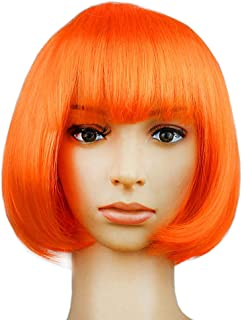 KATCOCO Women's Short Bob Wig Heat Resistant Colorful Syntheic Hair Wig Cosplay Daily Party Wig for Women