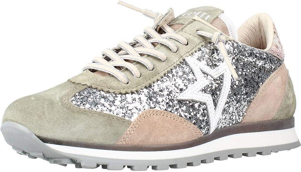 CETTI C-847, Sneakers, para Mujer, Color Kaki y Metalizado