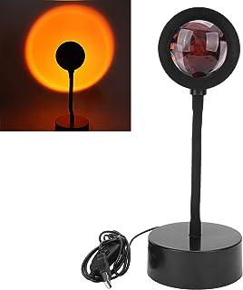 Lampe de Projection au Coucher du Soleil, Lampadaire à LED Romantique, Projecteur de Lampe Solaire Arc-en-ciel, Veilleuse ...
