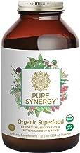 Pure Synergy USDA Organic Green Superfood (12.5 oz Powder) 60+ Greens, Veggies, Herbs for Energy & Wellness