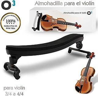 O³ Almohadilla Violin 3/4 a 4/4 Ajustable Para Violin | Soporte Para Violin – Respaldo de Hombro Tamaño Grande De Goma Acolchado
