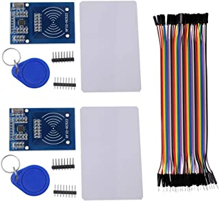 RFID RC522 Module IC Card Reader Read RF Proximity Sensor, with S50 Blank Card, with Key Ring, for Arduino Raspberry Pi Na...