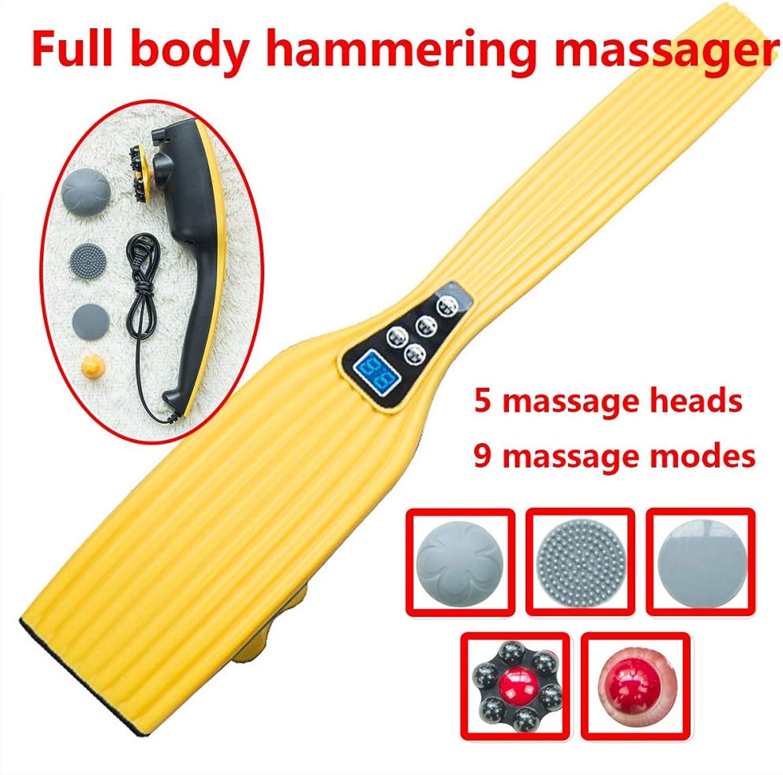 CUIXI Schulter Massagegert Elektrisch Für Nacken Rücken Shiatsu Nackenmassagegert Mit WrmefunktionEinstellbaren Geschwindigkeiten Für Muskeln Schmerzlinderung 5 Massagekpfe 9 Massage-Modi