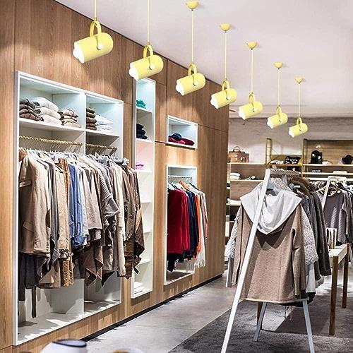 7 couleurs pendentif mavoitureon lumières LED en aluminium pendentif lampe à angle réglable Restaurant Cafe Bar vêteHommests déco éclairage luminaire, blanc