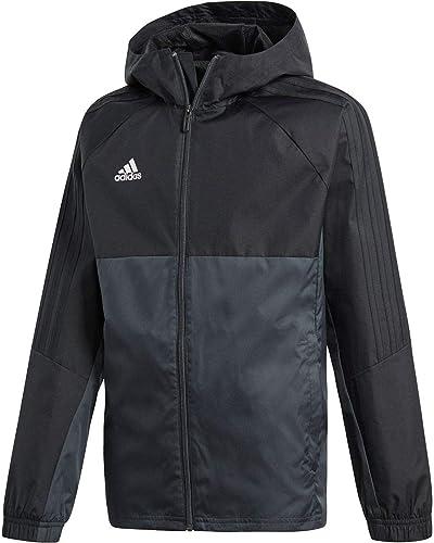 Adidas Youth Tiro 17 Soccer Rain veste XL noir-Dark gris-blanc