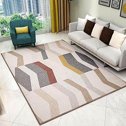 WLH- Nordic Style tapijt woonkamer koffietafel Modern eenvoudige geometrische Bedroom Slaapbank Huis Carpet (Color : A, Size : 140x200cm)