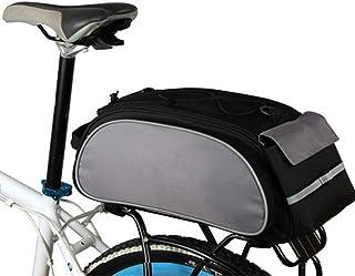 TT WARE 13L Bike Luggage Bag Multi-Purpose Durable Shoulder Handbag Cycling Pannier Rear Rack Bag-Grey