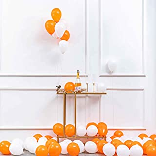 GAKA 5 in Orange and White Balloons Helium Balloons Quality Latex Balloons Party Decorations Supplies Pack of 100,3.2g/pcs