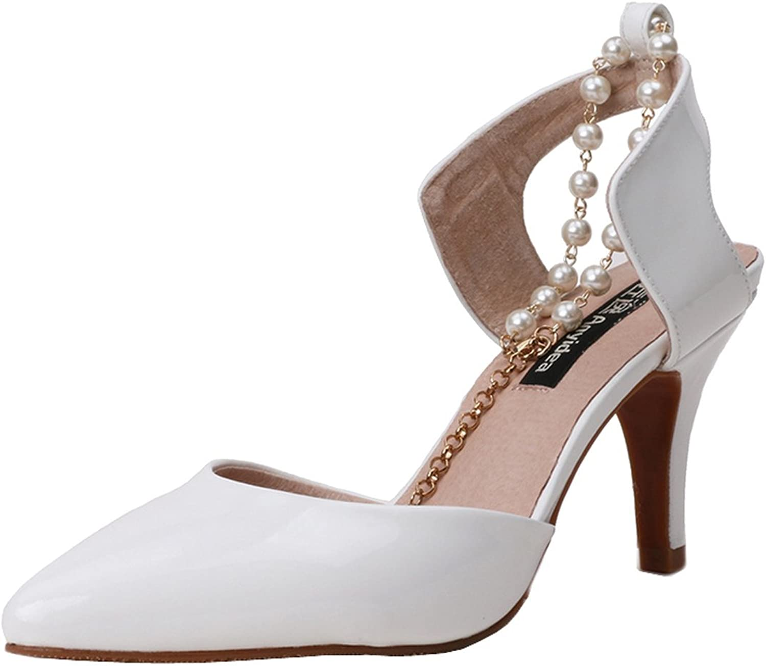 Anyidea new beaded sandals high-heeled sandals