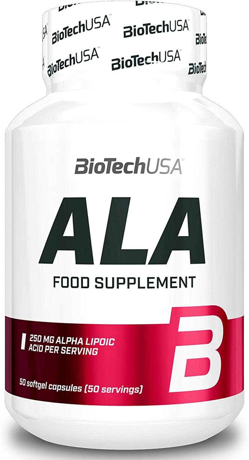 Biotech ALA 50 Capsules Alpha Manufacturer OFFicial shop Powerful Lipoic Acid Bombing free shipping Antio