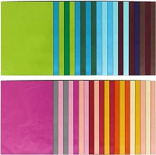 Naler 60pcs Papier de Soie Coloré, 20 Couleurs Assorties de Papier 50 * 70cm pour Artisanat, Papeterie de Bureau, Décorati...