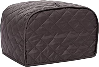Shopline Toaster Cover, Polyester Toaster Cover for Four Slice Toaster and Dust & Fingerprint Protection / 12 x 11 x 8.5 (L, Coffee)