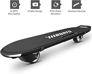 Electric Skateboard - Motorized Skateboard with Remote Control, Long Board with a Max Speed of up to 12.4mile/h,a Range of over 18.6 Miles on One Charge, Waterproof Skateboard with Two Wheels