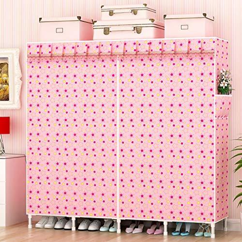 AYUANCHUN Eenvoudige garderobe - Stalen frame vet/versterkt doek garderobe, Eenvoudige moderne economie garderobe, Opbergkast, kast organizer systemen 68.9inx 82.7inx 18.1in