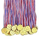 Lot de 100 médailles en plastique pour enfants, récompenses pour l'école, le sport ou les mini jeux olympiques