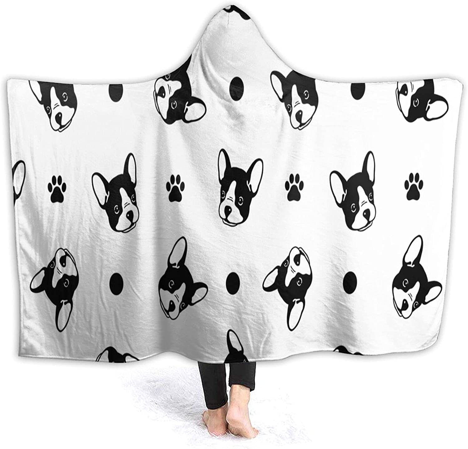 Hooded Blanket Boston Terrier for Paw Cartoon Dog Max 59% OFF Super intense SALE