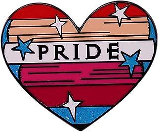 Spilla Orgoglio Love Is Love Glitter Cuore Smalto Spilla Bandiera Lesbica Bisessuale Distintivo Gay Lesbiche Lgbt