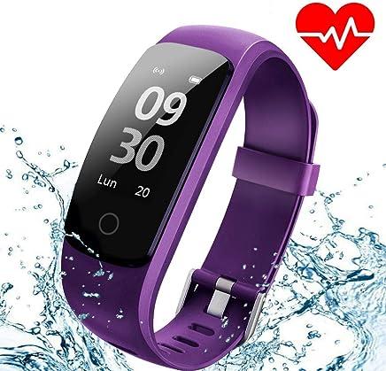 Montre Connectée Smartwatch Podometre Etanche IP67 Montre Cardiofrequencemetre pour Femme Homme Enfant Moniteur de Sommeil 14