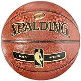 Spalding NBA Gold - Balón de Baloncesto para Interiores y Exteriores, tamaño 7