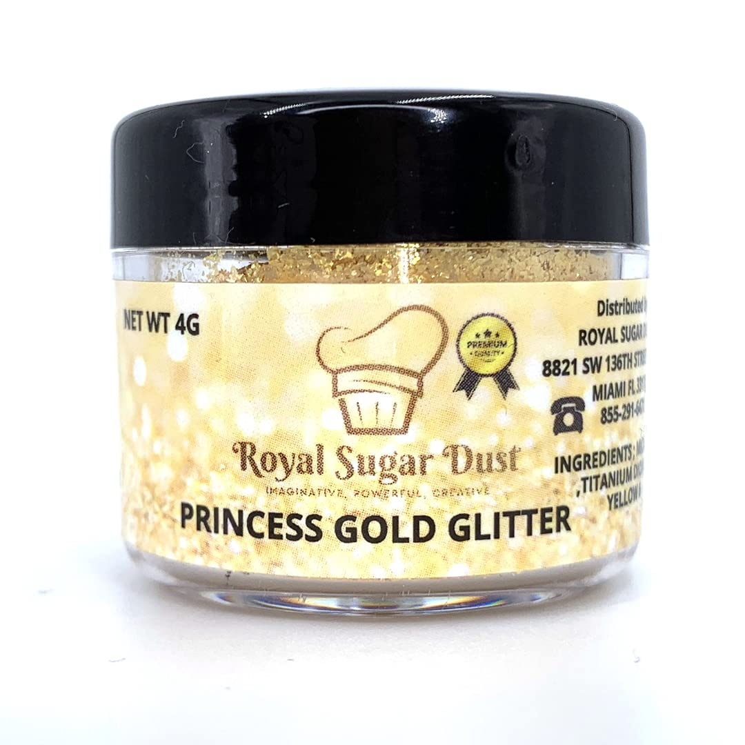 PRINCESS GOLD Edible Glitter For Cakes Tulsa Mall Decorating Cupcakes Cak Our shop most popular