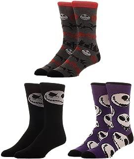 Nightmare Before Christmas Jack 3 Pack Crew Cut Socks