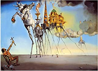 Salvador Dali The Temptation of Saint Anthony Poster Wall Decor 24x36 Inches Art Print Photo Paper Material Unframed