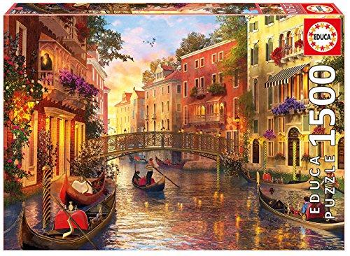 Educa Borrás - 1500 Atardecer en Venecia, Puzzle (17124)