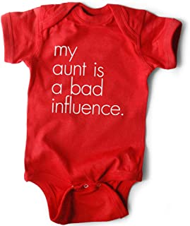 Funny Baby Bodysuit | My Aunt is a Bad Influence