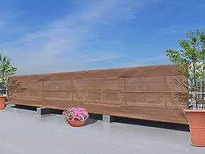 GROOVY OUTSTYLE オーニング シェード バルコニー ベランダ ガーデン 庭日除け シェード 目隠し シート プライバシー UVカット 簡単設置 ハトメ 固定ロープ 付属 (100×600, ブラウン)
