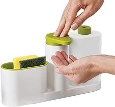 INOVERA (LABEL) ABS Plastic Self Sink Drainer Dishwasher Sanitizer Liquid Dispenser and Sponge Holder (Assorted Colour)