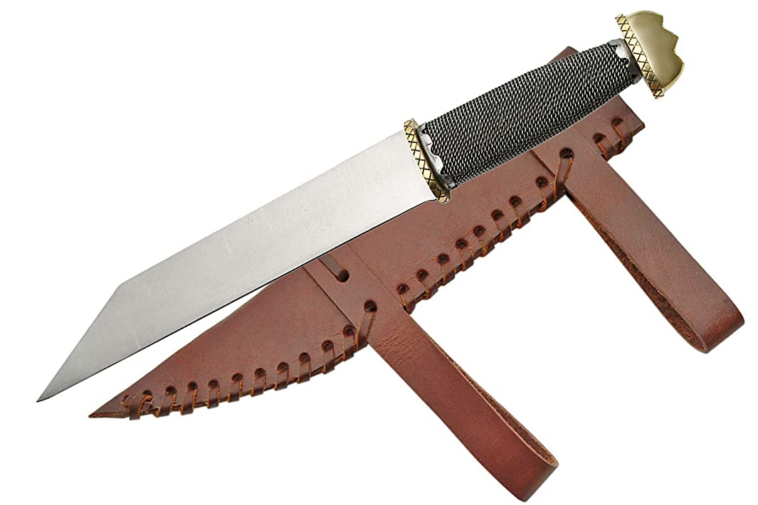 SZCO Supplies 203340 Wire Wrapped Seax with Sheath
