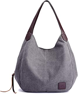 Womens Canvas Shoulder Bag Weekend Shopping Big Bag Tote Handbag Work Bag
