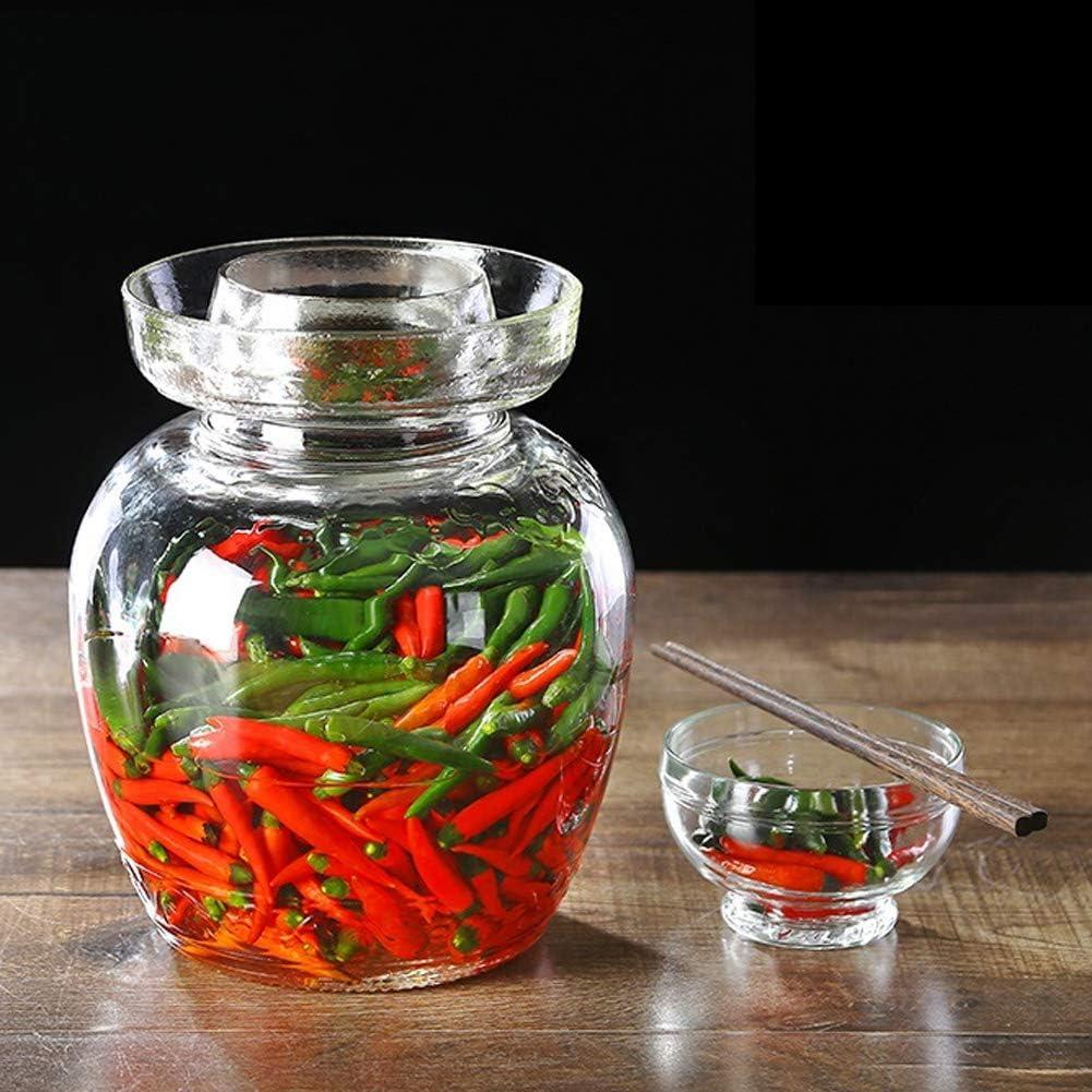 Zsail Traditional Glass shop Kimchi Max 50% OFF Large-Capacity Jar Fermentation