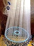 Nr.37 Angelnetz,Cast Net, Neustes Wurfnetz mit 4,88m,Fischnetz