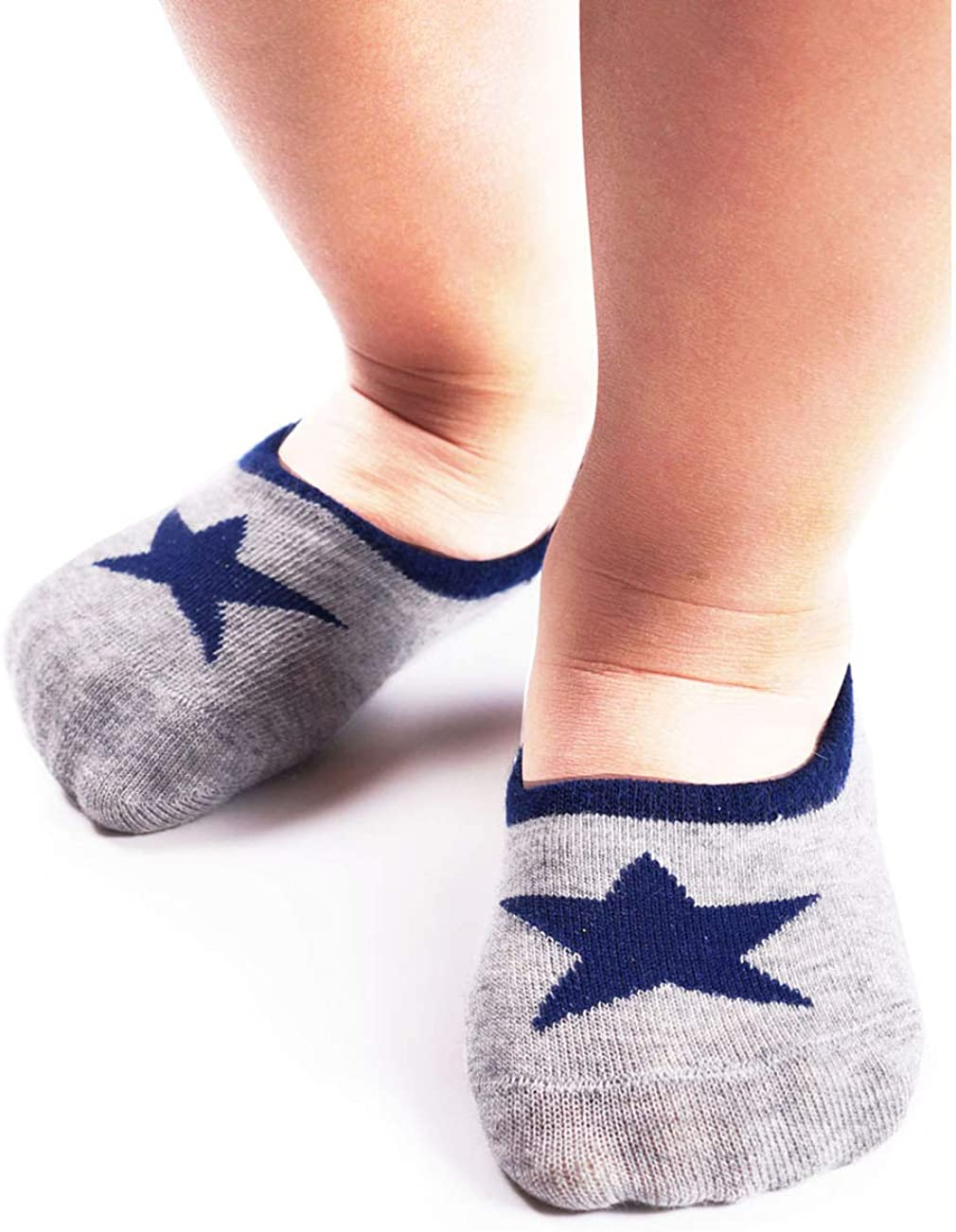 BabaMate 6 Pairs Baby Toddler Kids Cute Fashion Cotton No Show Socks for Boys and Girls