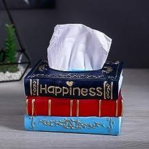Wifehelper Resina Vintage Libros Modelo Caja de Pañuelos Servilletero Caja de Papel Decoración para el Hogar Forma de Libr...