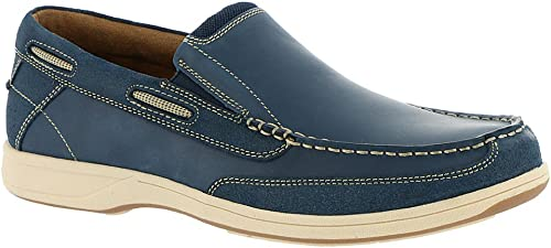 Florsheim Men's Lakeside Slip Indigo Smooth Suede 12 M US