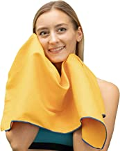 Winthome Microfiber Gym Towel with Carrying Bag, Quick Dry Sports Towel (Yellow, 40x80cm-2 Pack)