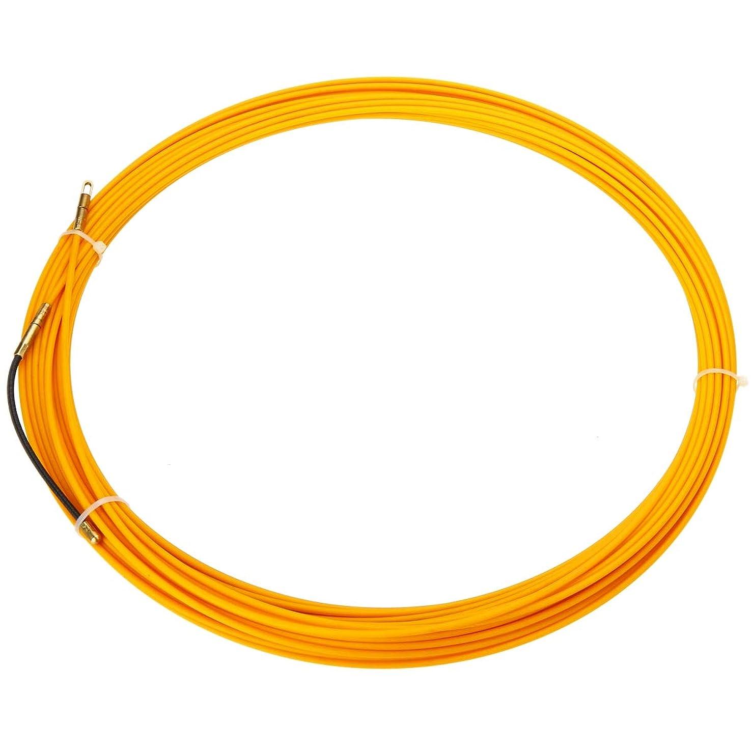 満員藤色不従順Naliovker 20メートル3ミリメートル ガイドデバイスグラスファイバー電気ケーブルプッシュプーラーダクト ヘビローダーフィッシュテープワイヤー