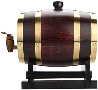 Casiers à vin Appareil à vin Tonneau à vin, tonneaux de vieillissement en chêne Distributeur de Baril de Whisky de 1,5 L S...